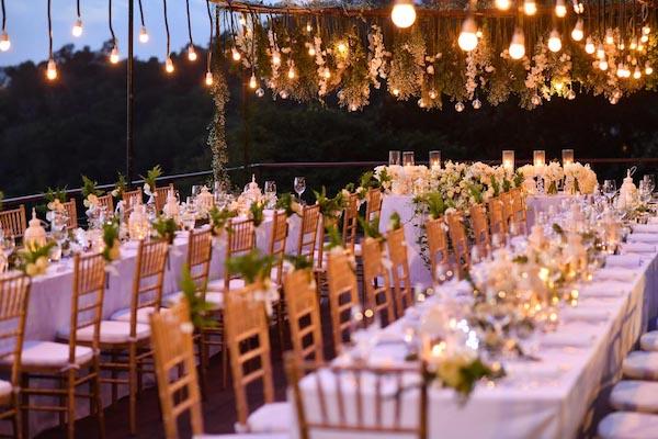 gorgeous wedding decoration in bali